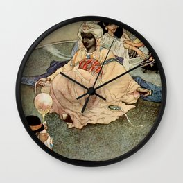 """""""King of the Mountains of the Moon"""" by Charles Robinson Wall Clock"""