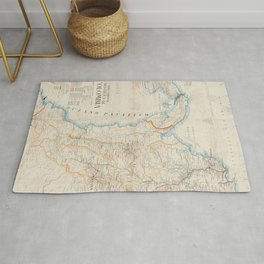 Vintage Map of Colombia (1919) Rug