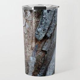 Eucalyptus Tree Bark and Wood Texture 15 Travel Mug