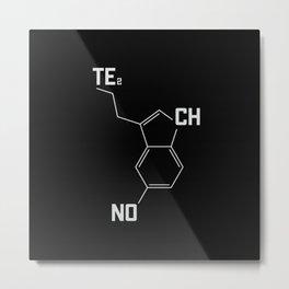 Techno serotonin molecule Metal Print