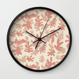 Matisse Inspired Peach Apricot Leaf shapes Wall Clock