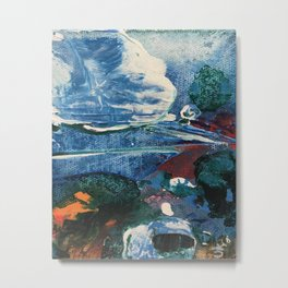 Mini World Environmental Blues 2 Metal Print