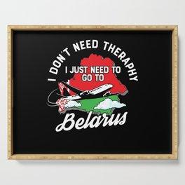 Belarus flag I Belarus Souvenirs Serving Tray