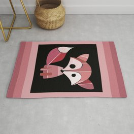 Paint Chip Fox Rug