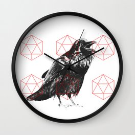 Sacred Raven Wall Clock