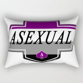 Identity Stamp: Asexual Rectangular Pillow