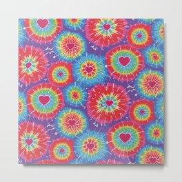 Love Tye Dye Metal Print