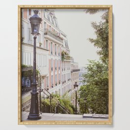 Montmartre Steps - Paris Travel Photography Serving Tray