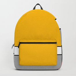Mid century Modern yellow gray black red Backpack