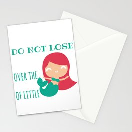 Mermaids Do Not Lose Sleep Over The Opinions Of Little Shrimp Stationery Cards