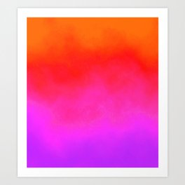 Gradient orange red violet Art Print