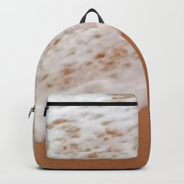 Tropical Coral Sand Beach With Toe-Tickling Foamy Surf Backpack