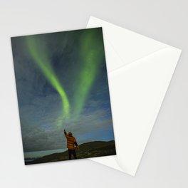 Northern lights man Stationery Cards