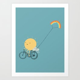 Rainbow Kite Art Print