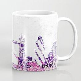 LONDON Skyline + map Coffee Mug