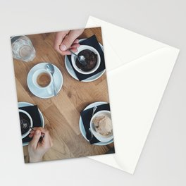 Ice cream and coffee Stationery Cards