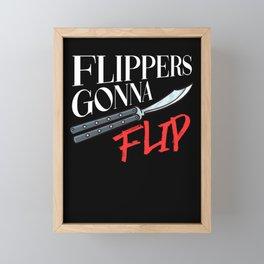 Balisong Flipping Gift Butterfly Knife Training Framed Mini Art Print
