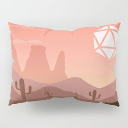 Desert Sunset Cactus D20 Dice Sun Tabletop RPG Landscape Pillow Sham
