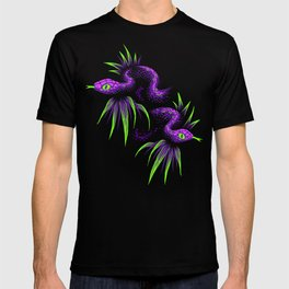 Mr Snake in the Rainforest - Purple Green T-shirt