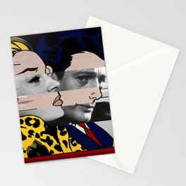 "Roy Lichtenstein's ""In the car"" & Marcello Mastroianni with Anita Ekberg Stationery Cards"