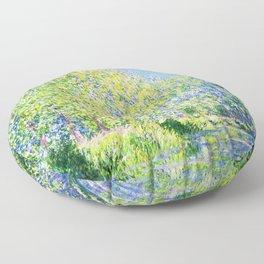 Monet: Bend in the River Epte Floor Pillow