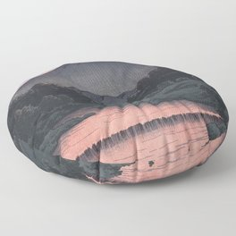 Hasui Kawase, Mount Kamagadake, Hida At Dusk - Vintage Japanese Woodblock Print Art Floor Pillow
