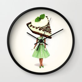 Cake Head Pin-Up : Grasshopper Pie Wall Clock