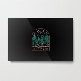 Camping Metal Print