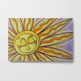 Sun Art Happiness Metal Print