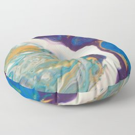 Fluid Nature - Dividing Line - Abstract Acrylic Art Floor Pillow