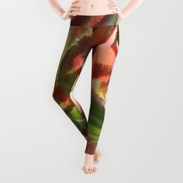 Fall Colors Leaf Abstract Leggings