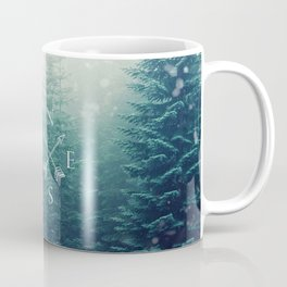 Arrow Compass in the Winter Woods Coffee Mug