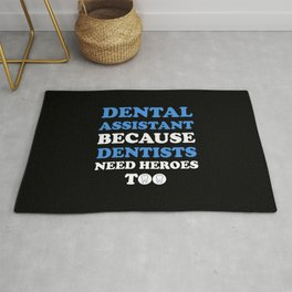 Funny Dental Assistant Rug