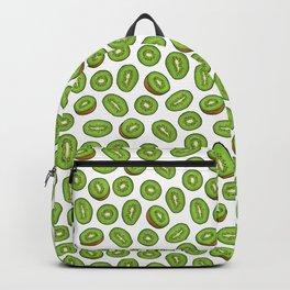 Kiwi fruits in white Backpack