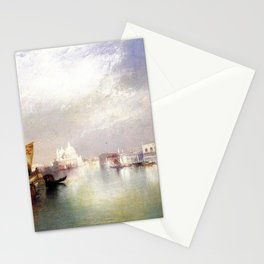 The Splendor of Venice, Italy landscape painting by Thomas Moran Stationery Cards