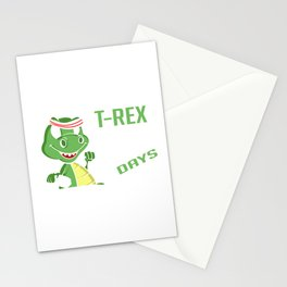 Training Arm Day Funny Dinosaur Fan Gift Stationery Cards