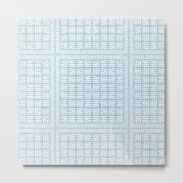 Nappy Faux Velvet Framed Weave in Powder Blue Reversed Metal Print