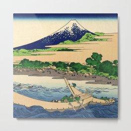 Hokusai -36 views of the Fuji  28 Shore of Tago Bay, Ejiri at Tokaido Metal Print