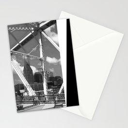 Nashville City Scape Black and White Stationery Cards