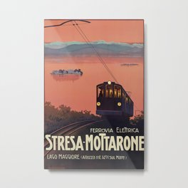 Stresa-Mottarone Vintage Travel Poster Metal Print