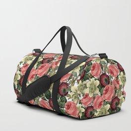 Vintage & Shabby Chic - Pink and Red Roses Retro Flower Garden Pattern Sporttaschen