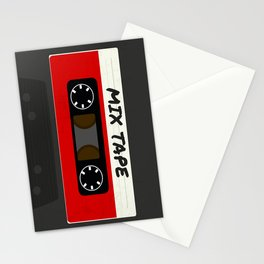 Red Mix Tape Stationery Cards