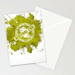 d20 Neutral Evil Alignment Stationery Cards