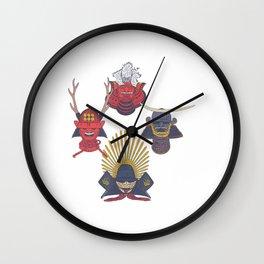 Samurai Helmet - Feudal Japanese Warrior - Kabuto T-Shirt Wall Clock