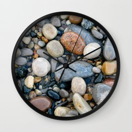 River Rock Design Wall Clock