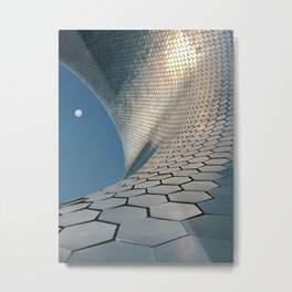 Silver honeycomb Metal Print