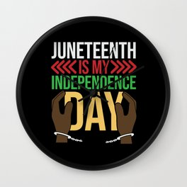 Juneteenth Celebration Black Flag June 19 1865 Wall Clock