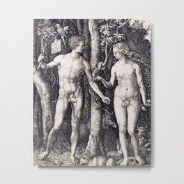 Adam and Eve by Albrecht Dürer Metal Print