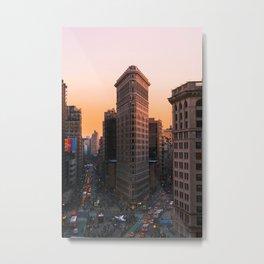 Flatiron Sun Metal Print