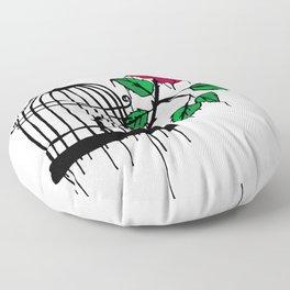 rose fly Floor Pillow